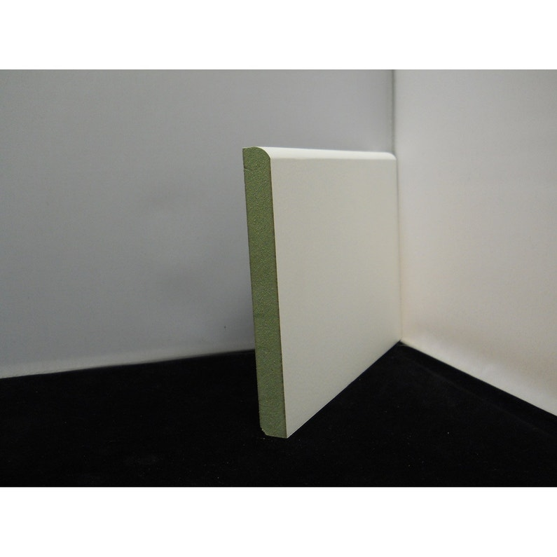 Plinthe Médium Mdf Hydro Arrondie Prépeint Blanc 14 X 80 Mm L244 M