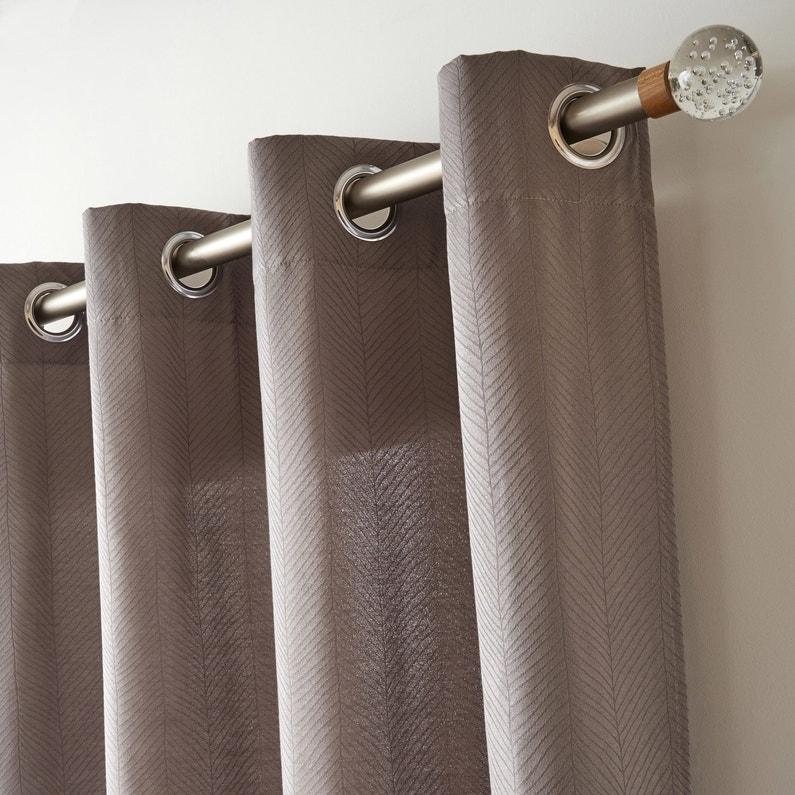 Embout INSPIRE, transparent brillant, pour tringle à rideau Diam.28 ...