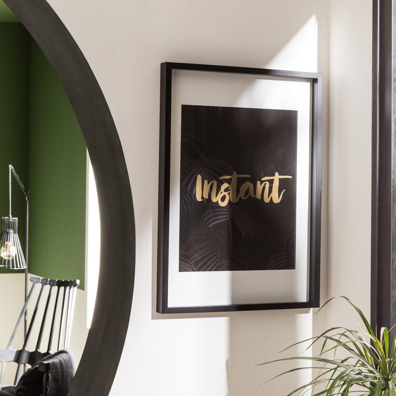 cadre vitrine milo 30 x 40 cm noir leroy merlin. Black Bedroom Furniture Sets. Home Design Ideas