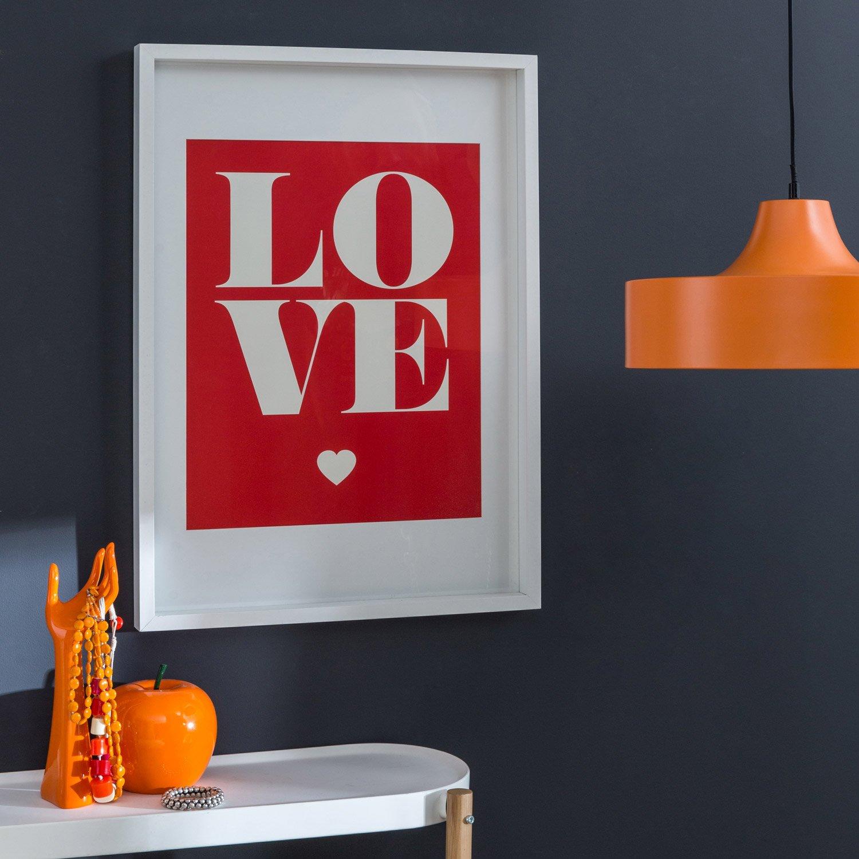 cadre vitrine milo 50 x 70 cm blanc leroy merlin. Black Bedroom Furniture Sets. Home Design Ideas
