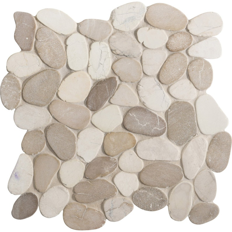 Galets sol et mur River mix blanc beige | Leroy Merlin