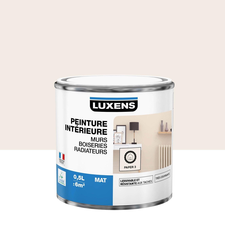 Peinture mur, boiserie, radiateur Multisupports LUXENS, paper 3, 0.5 l, mat