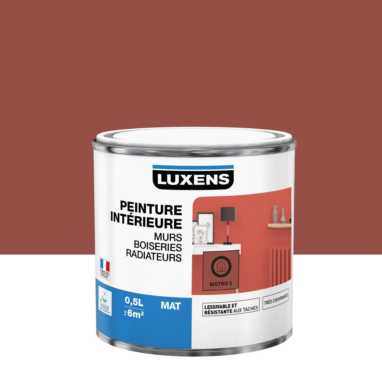 Peinture mur, boiserie, radiateur Multisupports LUXENS, bistrot 3, 0.5 l, mat