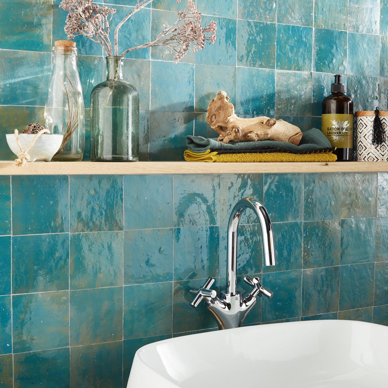 La Beaute De Cette Mosaique Bleu Turquoise Leroy Merlin