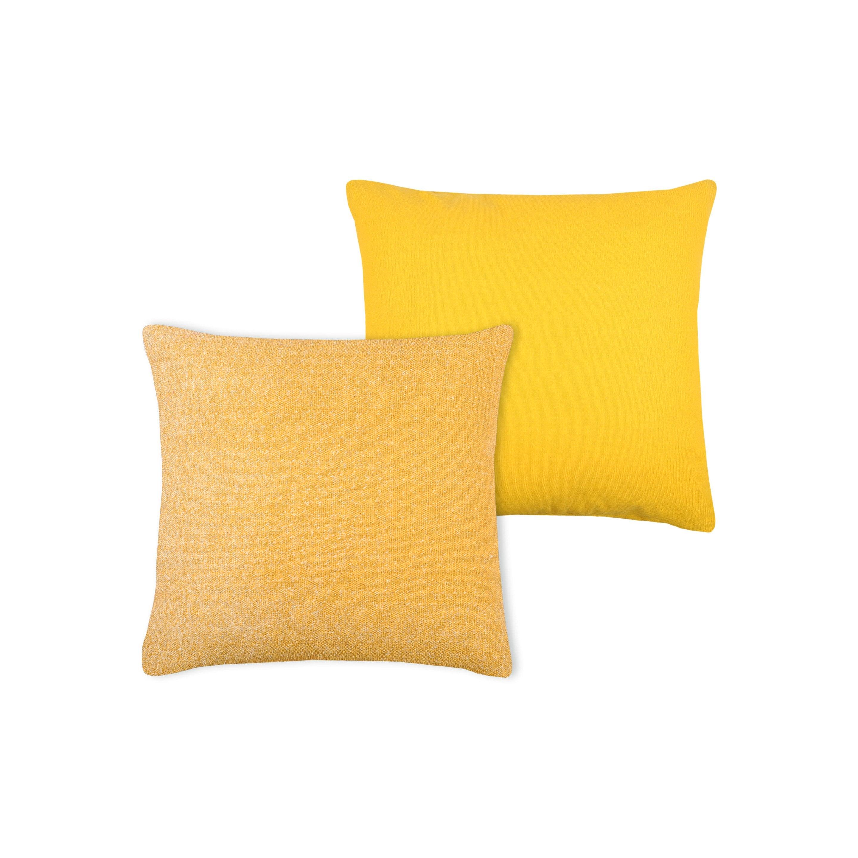 Coussin Used, jaune l.45 x H.15 cm