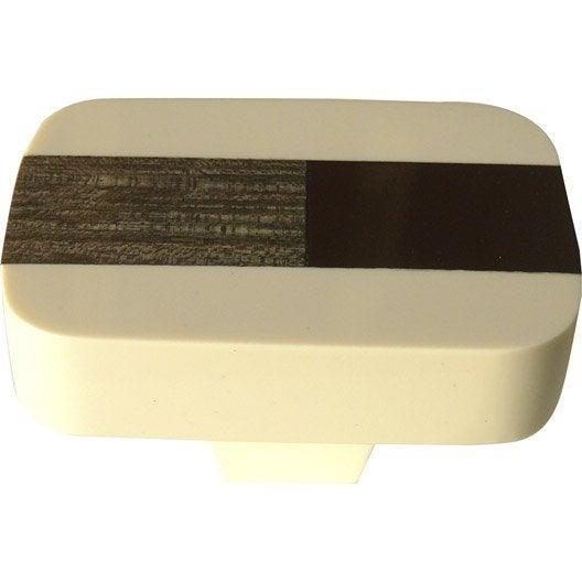 bouton de meuble r sine polyester brillant leroy merlin. Black Bedroom Furniture Sets. Home Design Ideas