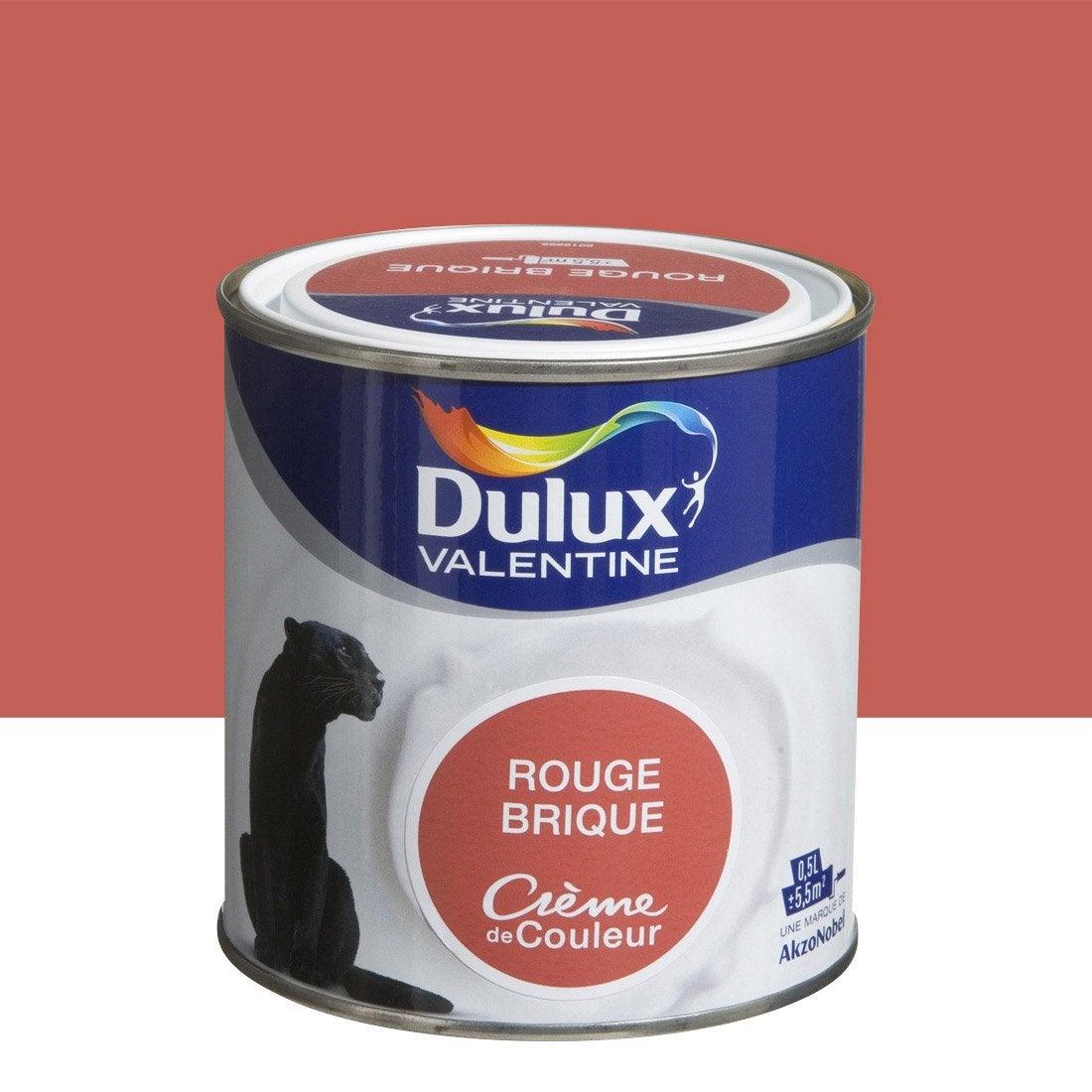 Peinture rouge brique satin DULUX VALENTINE Crème de couleur 0.5 l ...