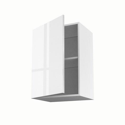 Meuble de cuisine haut blanc 1 porte everest x x for Meuble haut cuisine 50 cm
