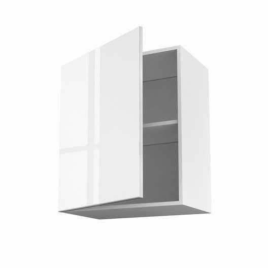 meuble de cuisine haut blanc 1 porte everest h70 x l60 x p35 cm