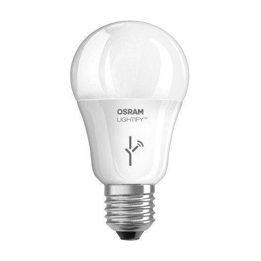 ampoule connect e standard led 9 5w 810lm quiv 60w e27 2700k lightify osram leroy merlin. Black Bedroom Furniture Sets. Home Design Ideas