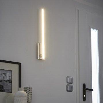 Applique, led intégrée Bara, 1 x 12 W, métal chromé, INSPIRE