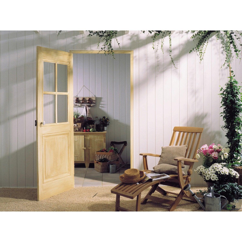 lambris pvc blanc brut grosfillex x cm x ep 8. Black Bedroom Furniture Sets. Home Design Ideas
