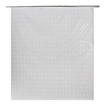 Rideau de douche en plastique transparent l.180 x H.200 cm, Sama SENSEA