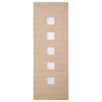 Porte coulissante chêne plaquée chêne Leo ARTENS, H.204 x l.83 cm
