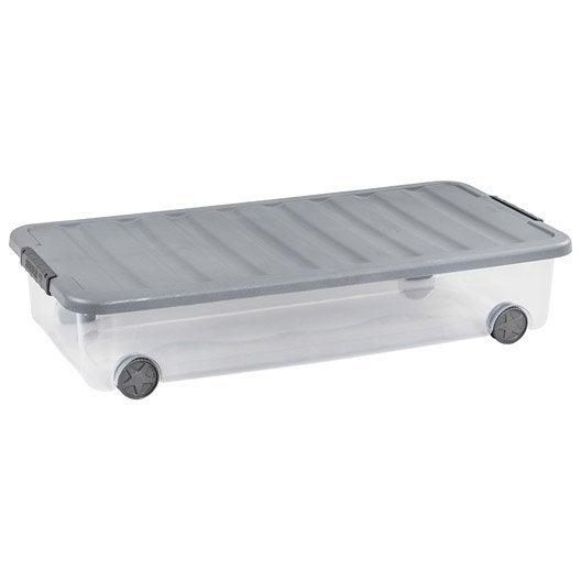 Boite de rangement boite plastique pin carton au - Boite de rangement plastique sous lit ...