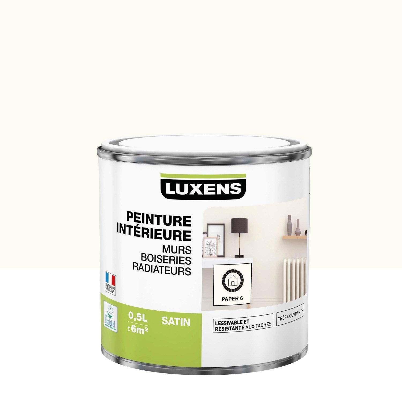 Peinture mur, boiserie, radiateur Multisupports LUXENS, paper 6, 0.5 l, satin