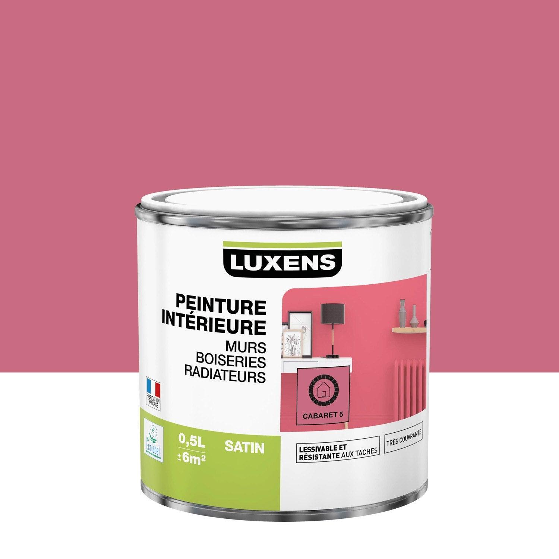 Peinture mur, boiserie, radiateur Multisupports LUXENS, cabaret 5, 0.5 l, satin