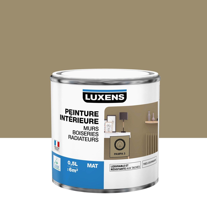 Peinture mur, boiserie, radiateur Multisupports LUXENS, pampa 3, 0.5 l, mat