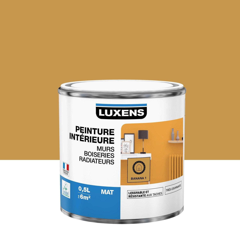 Peinture mur, boiserie, radiateur Multisupports LUXENS banana 1 mat 0.5 l