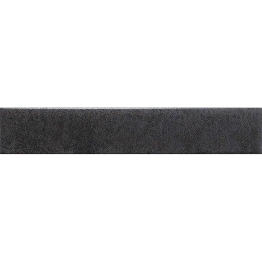 lot de 3 plinthes factory noir l 8 x cm leroy merlin. Black Bedroom Furniture Sets. Home Design Ideas