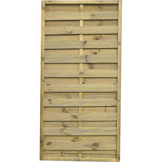 panneau bois occultant prestige cm x cm naturel leroy merlin. Black Bedroom Furniture Sets. Home Design Ideas
