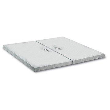 Couvercle pour abri béton gris LEGOUEZ, L.80 x l.80 cm
