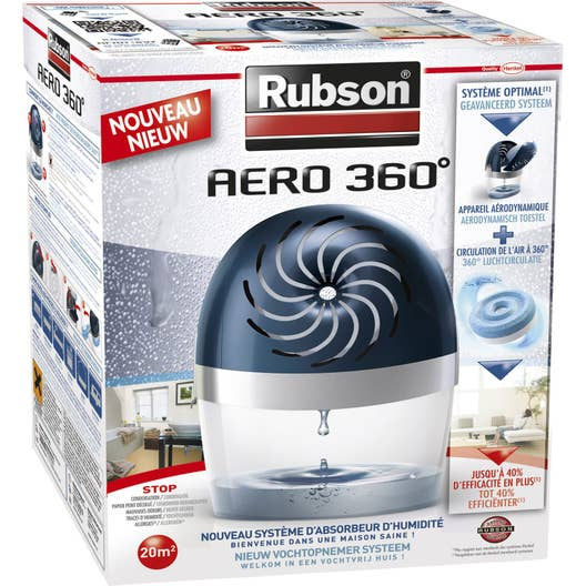 absorbeur d 39 humidit avec une recharge a ro 360 rubson 20 m leroy merlin. Black Bedroom Furniture Sets. Home Design Ideas