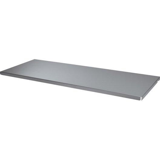 lot de 2 tablettes pleines acier l.80 x p.30 x ep.2 cm | leroy merlin