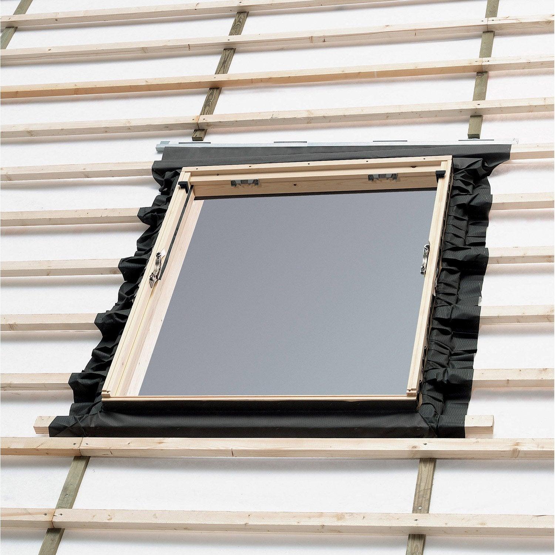 Collerette d 39 tancheit standard pour fen tre de toit velux bfx uk04 1000 gris leroy merlin for Dimension fenetre de toit standard