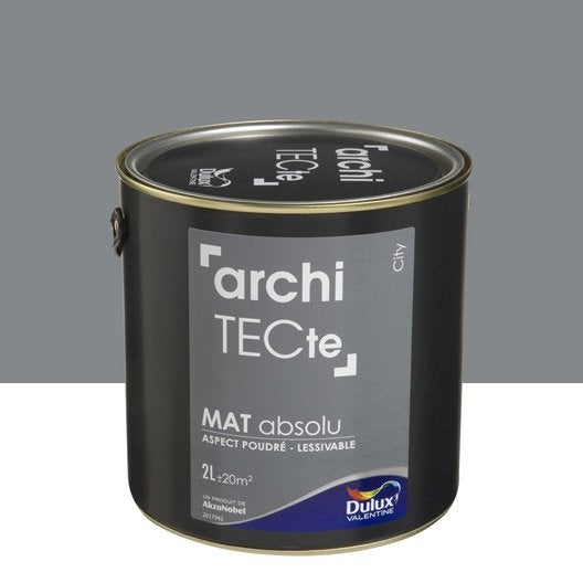 peinture gris city dulux valentine architecte 2 l leroy merlin. Black Bedroom Furniture Sets. Home Design Ideas