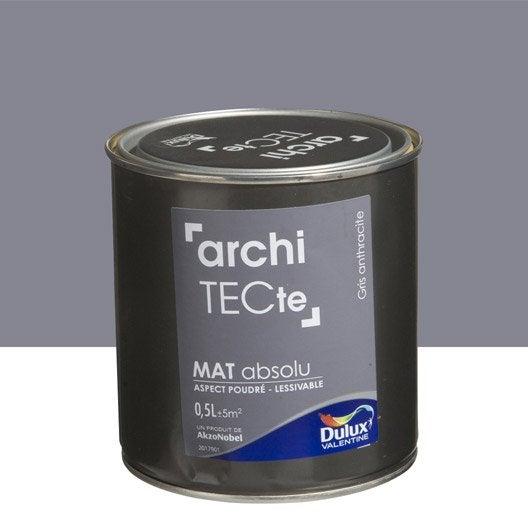 Peinture gris anthracite DULUX VALENTINE Architecte 0.5 l | Leroy ...