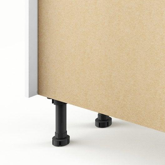 Meuble de cuisine bas blanc 1 porte graphic x x for Meuble bas cuisine 40 cm largeur