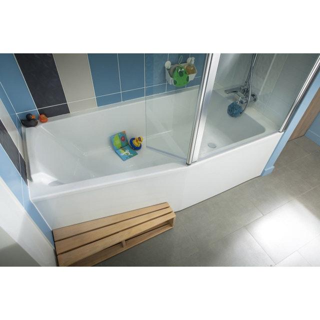 Salle de bains baignoire blanche leroy merlin for Baignoire douche jacob delafon leroy merlin
