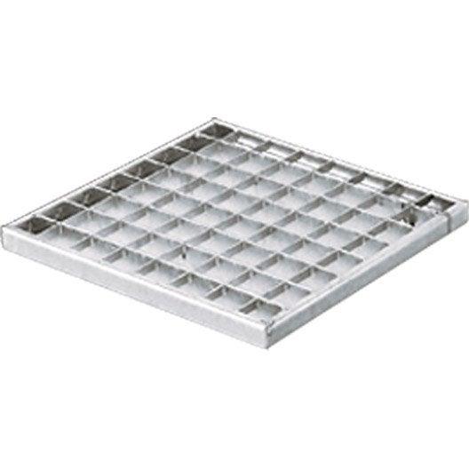 grille caillebotis acier galvanis 23x23 cm leroy merlin. Black Bedroom Furniture Sets. Home Design Ideas