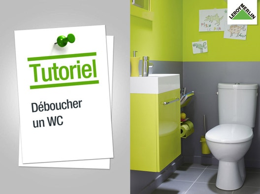 Wc abattant et lave mains leroy merlin - Comment deboucher un wc ...