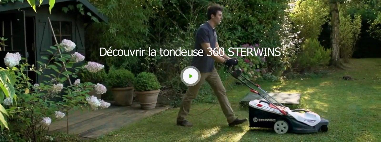 Vidéo Découvrir Tondeuse 360° Sterwins