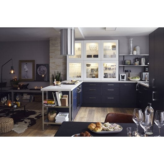 Meuble de cuisine bleu delinia topaze leroy merlin - Meuble cuisine leroy merlin delinia ...