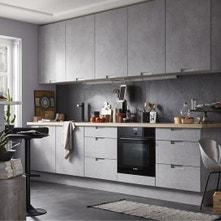 Meuble de cuisine décor béton DELINIA Berlin