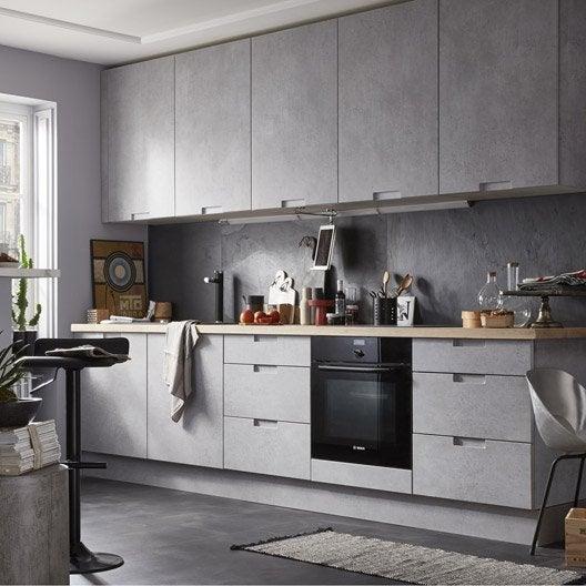Meuble de cuisine d cor b ton delinia berlin leroy merlin - Facade meuble cuisine leroy merlin ...