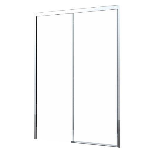 Porte de douche au meilleur prix leroy merlin - Porte coulissante pour douche de 130 cm ...