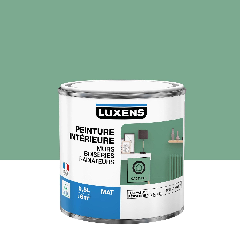 Peinture mur, boiserie, radiateur Multisupports LUXENS cactus 3 mat 0.5 l