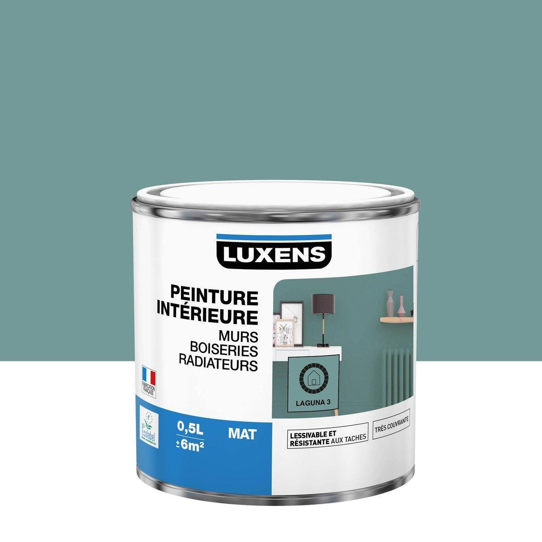 Peinture mur, boiserie, radiateur Multisupports LUXENS, laguna 3, 0.5 l, mat