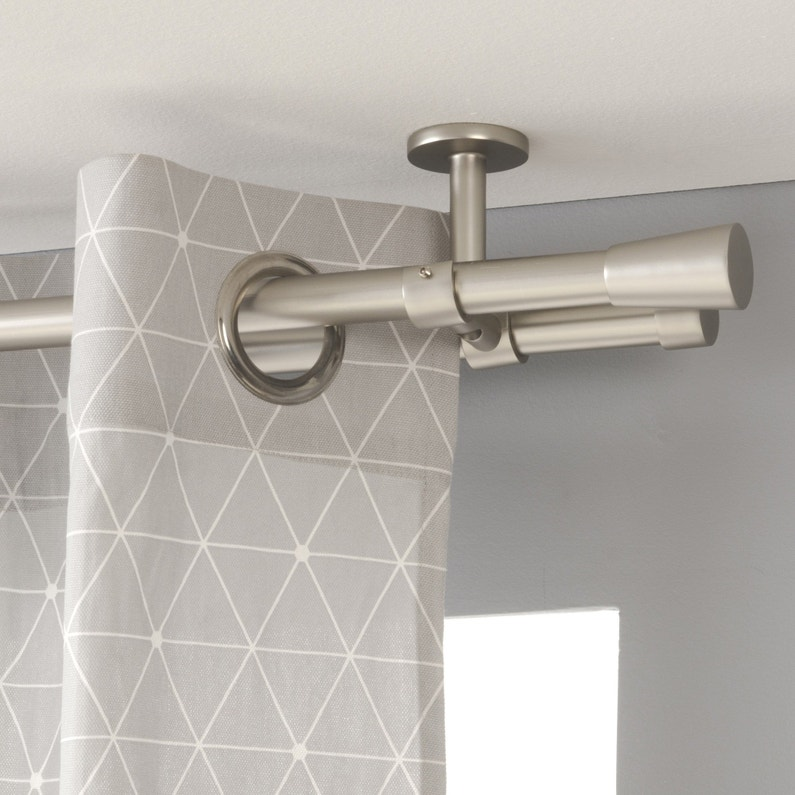 Support Tringle à Rideau Design 20 Mm Nickel Mat Inspire