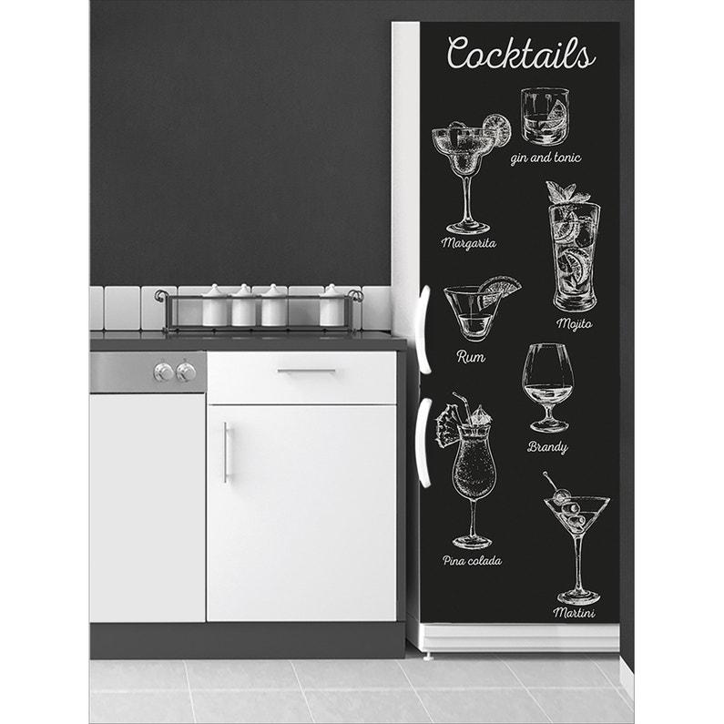 Sticker Réfrigérateur Verres De Cocktail 59 5 Cm X 180 Cm