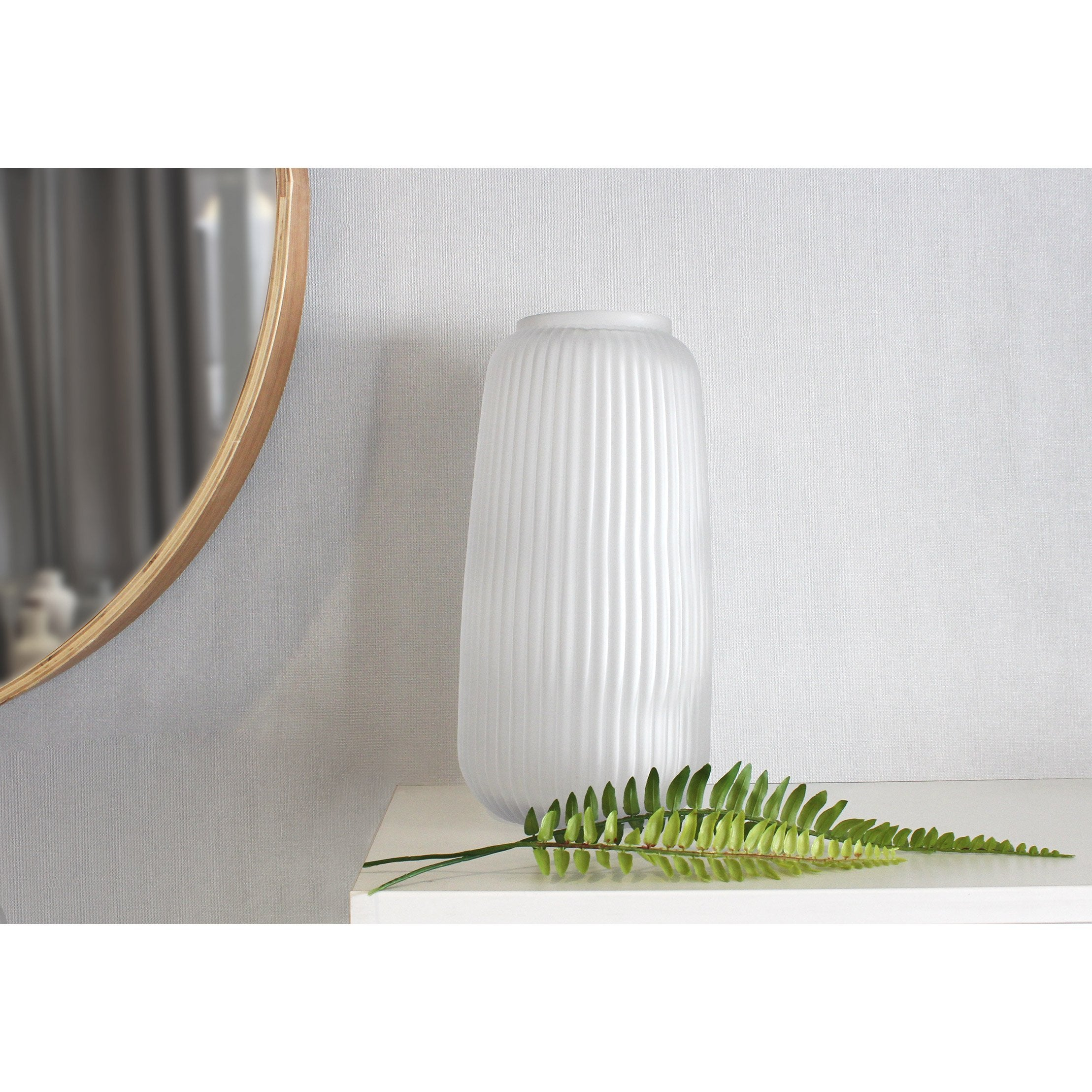 Vase décoratif verre Tanis, incolore / transparent, Diam.15.5 cm x H.30 cm