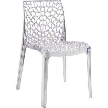 Chaise de jardin en polycarbonate Grafik lux transparent