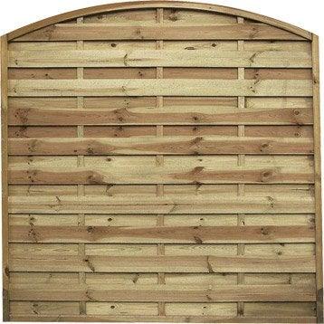 Panneau barri re palissade claustra panneau bois cl ture bois leroy me - Leroy merlin cloture bois ...