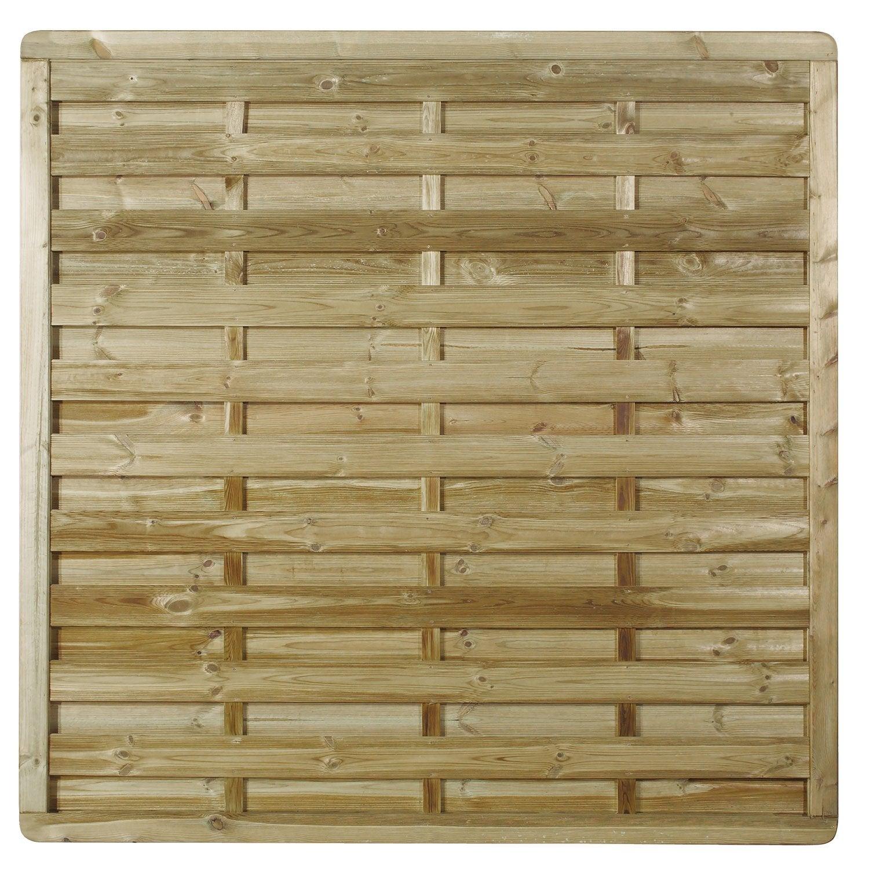 Panneau bois occultant Luxe, l.180 cm x h.180 cm, naturel | Leroy Merlin