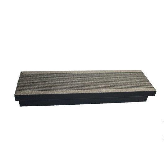 Margelle composite gris anthracite terrasse premiuml 2 4 x l m leroy m - Lambourde composite leroy merlin ...
