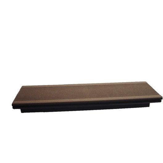 margelle composite brun fonc terrasse premium l24 x l012 m - Margelle Bois Piscine Leroy Merlin